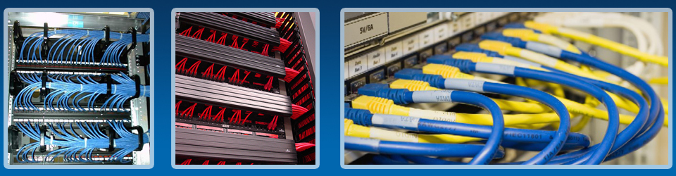 Computer network cabling wiring fiber voip telephone for Contractors network